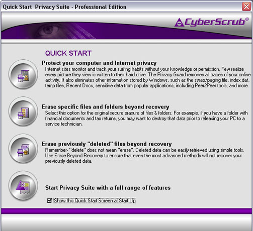 CyberScrub Privacy Suite Professional Edition 5 0 0 126 h33tt00_h0t preview 0