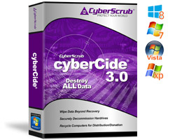 cyberCide, Complete disk sanitization, EPA Recommended