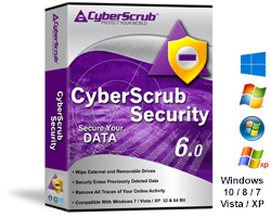 Securely Erase Files, CyberScrub Security, encrypted safe, privacy guard,Media wiper, wipe