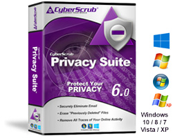 Privacy Suite, clear browsing traces, wipe temporary files and folders, Application aware privacy protection